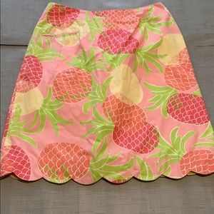 Lilly Pulitzer pineapple skirt